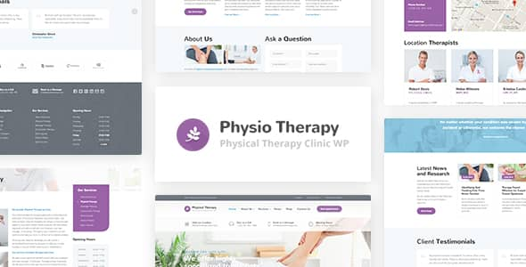 Physio WordPress theme for Physical Therapy & Medical Clinic