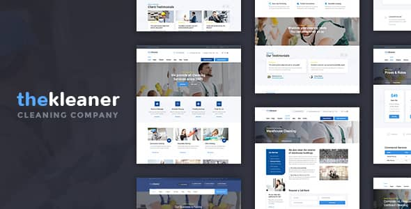 The Kleaner WordPress theme for Industrial Cleaning Companies